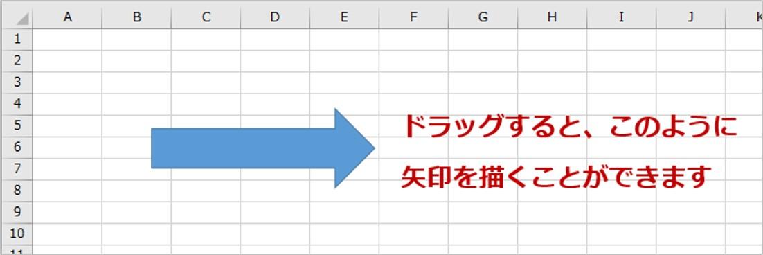 スプレッド シート 矢印